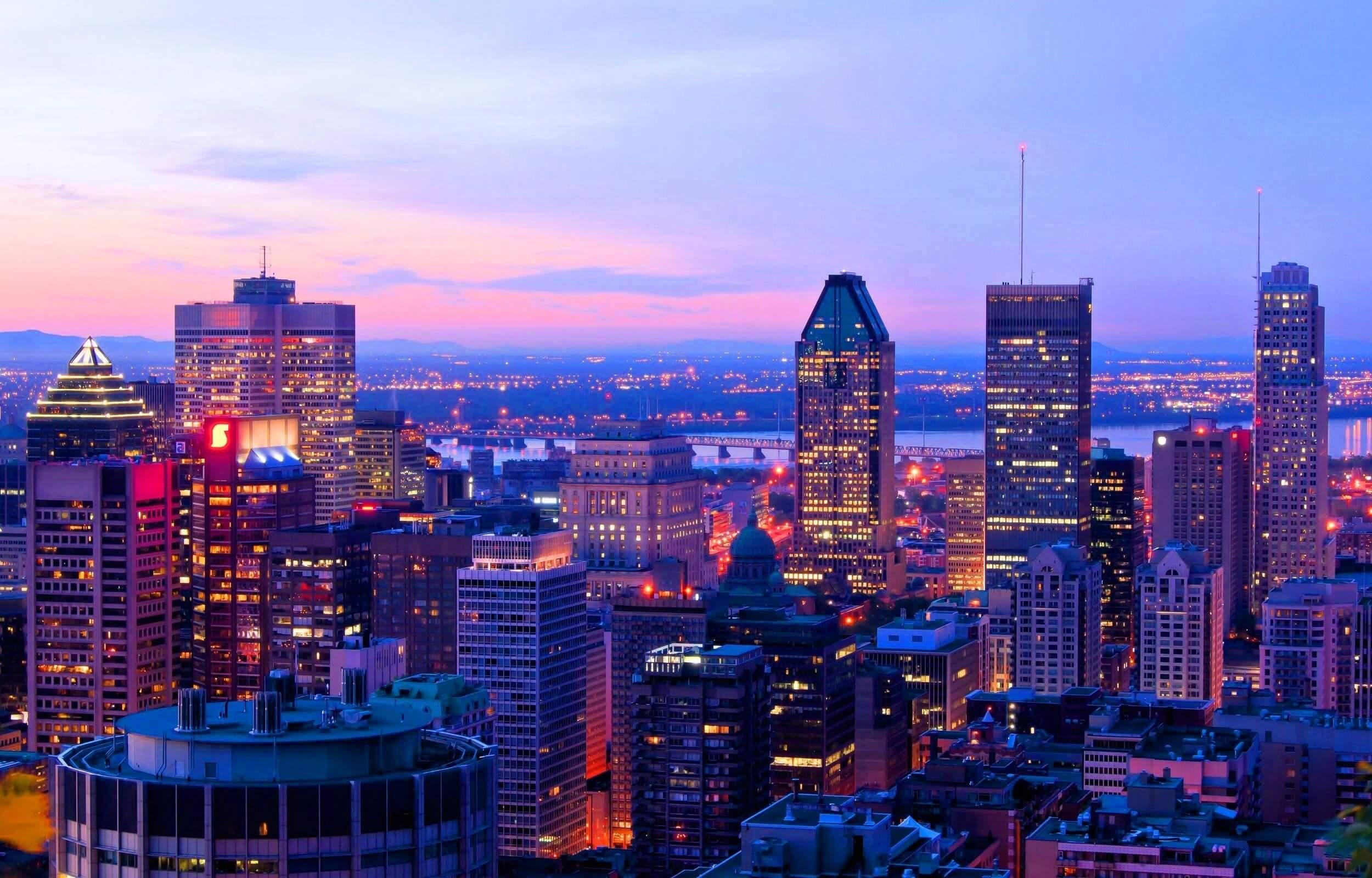 ALEIA CANADA BUILDINGS SKYSCAPER LIGHT CITY